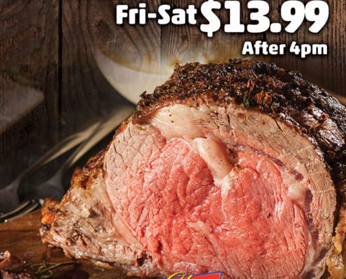 Prime Rib Fri–Sat $13.99 After 4pm El Capitan Casino